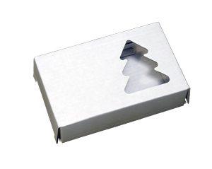Коробочка из микрогофрокартона. Елочка. Белая
