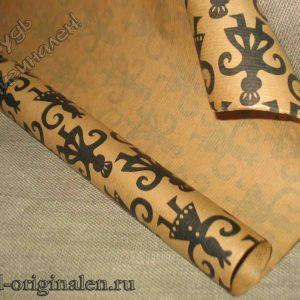 Крафт-бумага с рисунком