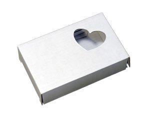 Коробочка из микрогофрокартона. Сердечко. Белая