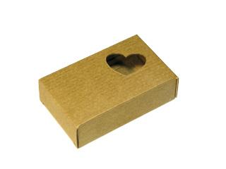 Коробочка из микрогофрокартона. Сердечко. Коричневая