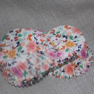 Капсула бумажная цветы 15 шт.