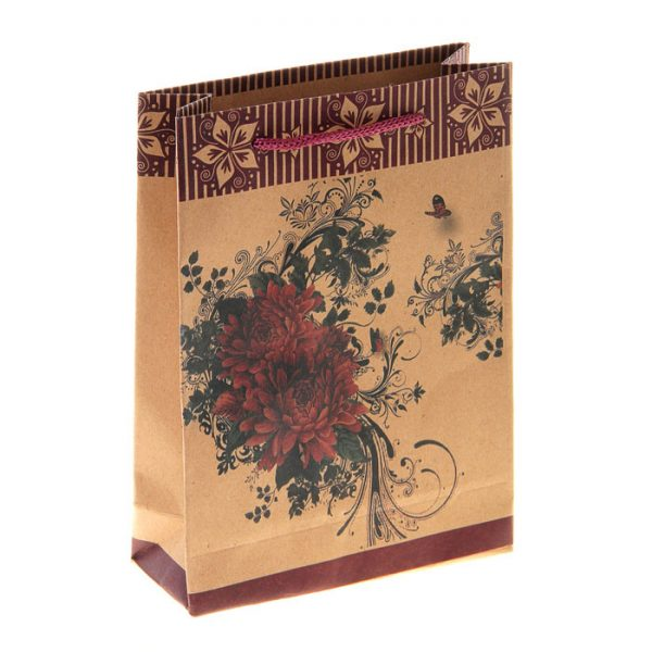 Крафт пакет Распустившийся цветок