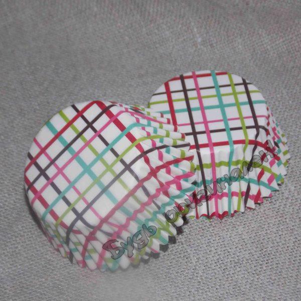 Капсула бумажная Цветная клетка 15 шт.