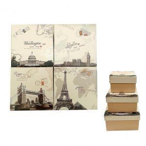 Коробка подарочная Серия ГОРОДА: Вашингтон.Лондон