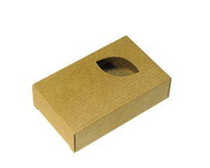 Коробочка из микрогофрокартона. Лист. Коричневая