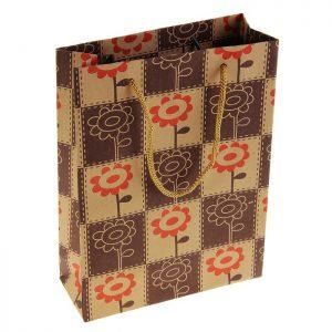 Крафт пакет Простой цветочек