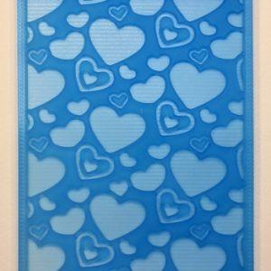 Текстурный лист Сердечки